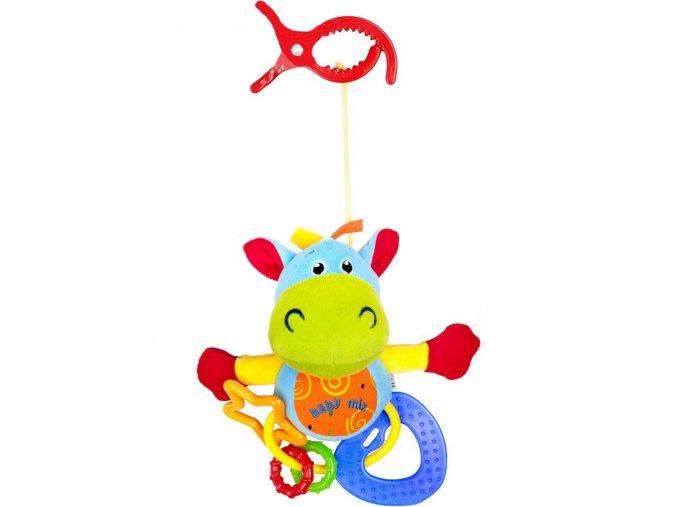 Plyšová hračka s hryzátkami Baby Mix hrošík