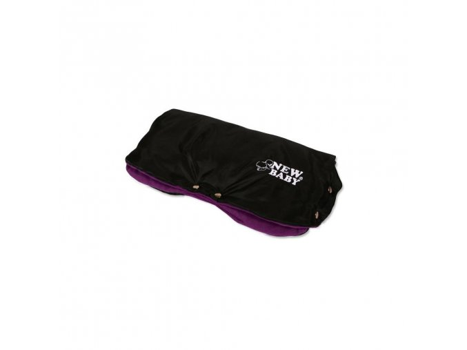 Rukávnik na kočík Classic Fleece black/violet