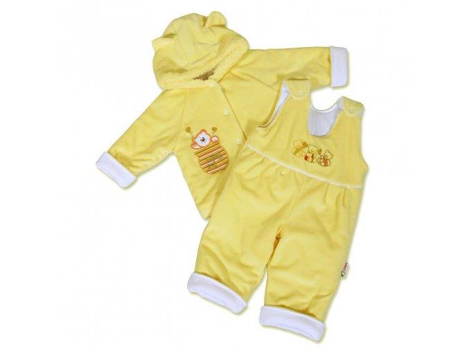 Dojčenská zimná súprava New Baby medvedík žlto-biela