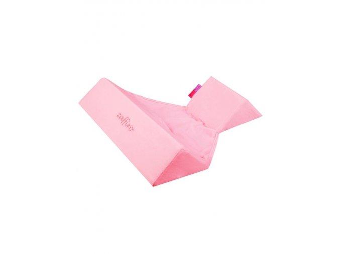 Semišková trojhranná opierka Womar ružová