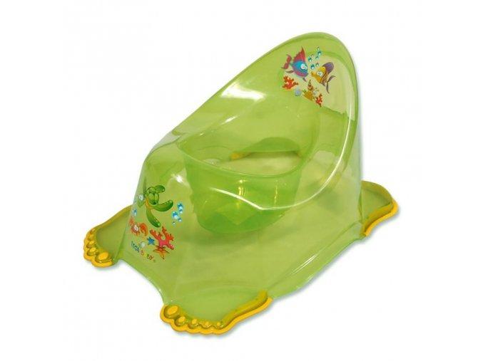 Detský nočník protišmykový zelený