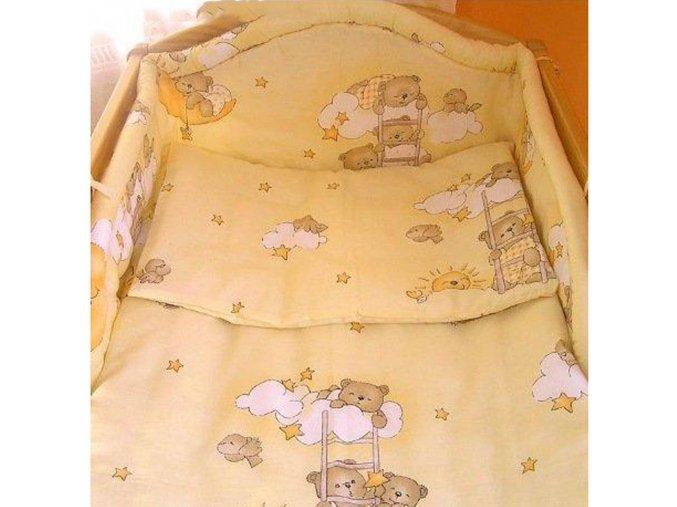 2-dielne posteľné obliečky New Baby 100/135 cm bežové s medvedíkom