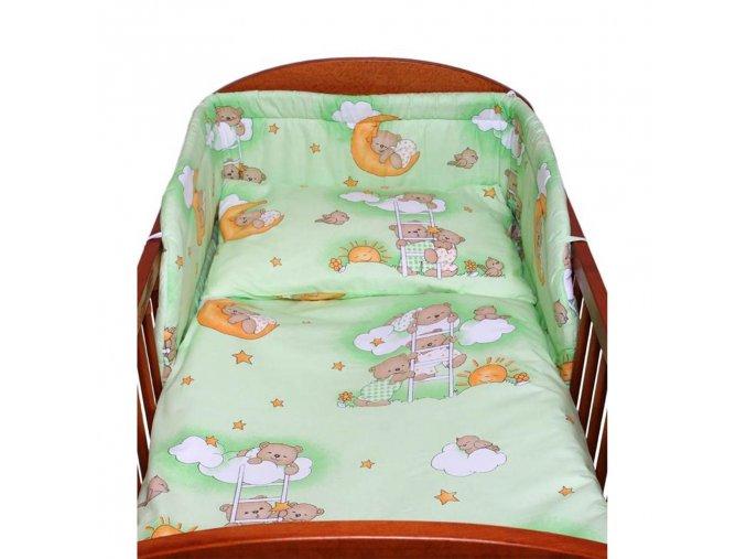 2-dielne posteľné obliečky New Baby 100/135 cm zelené s medvedíkom