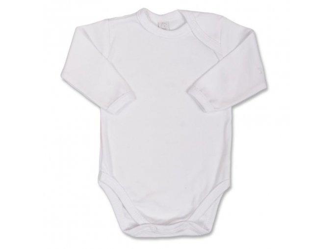 Dojčenské body s dlhým rukávom Bobas Fashion biele