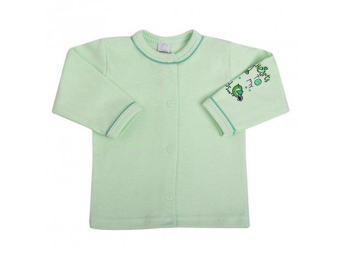 Dojčenský kabátik Bobas Fashion Benjamin zelený