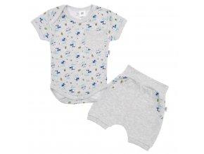 2-dielna letná bavlnená súprava New Baby Perfect Summer sivá