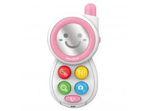 Detská hračka so zvukom Bayo Telefónik pink