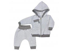 Dojčenské tepláčky a mikinka s kapucňou Koala Kamil sivá