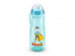 Detská fľaša NUK Sports Cup 450 ml tyrkysová