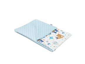 Detská deka z Minky New Baby Medvedíkovia modrá 80x102 cm