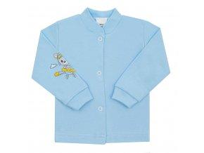 Dojčenský kabátik New Baby Teddy pilot modrý
