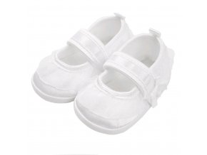 Dojčenské capačky New Baby saténové biele 3-6 m