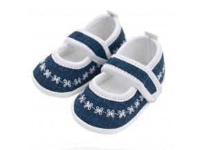 Dojčenské capačky New Baby Jeans biele 3-6 m