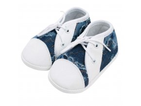 Dojčenské capačky tenisky New Baby modré 3-6 m