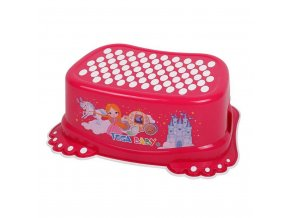 Detské protišmykové stúpadlo do kúpeľne Malá Princezná ružové