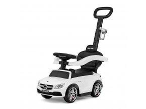 Detské odrážadlo s vodiacou tyčou Mercedes Benz AMG C63 Coupe Milly Mally white