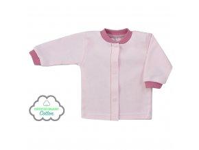 Dojčenský kabátik z organickej bavlny Koala Lesný Priateľ ružový
