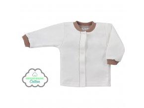 Dojčenský kabátik z organickej bavlny Koala Lesný Priateľ béžový