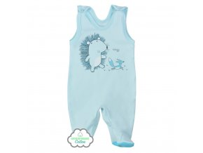 Dojčenské dupačky z organickej bavlny Koala Lesný Priateľ modré