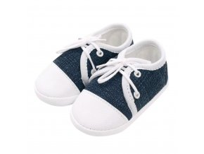 Dojčenské capačky tenisky New Baby jeans modré 6-12 m