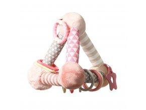 Edukačná hračka Baby Ono pyramída Tiny Yoga pink
