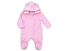 Dojčenský overal z Minky Nicol Bubbles ružový