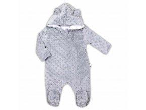 Dojčenský overal z Minky Nicol Bubbles sivý