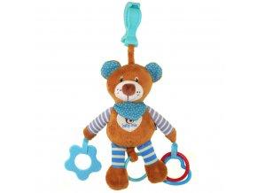 Plyšová hračka s vibráciou Baby Mix medvedík modrý