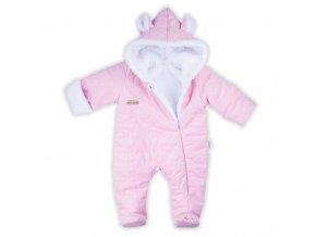 Zimný dojčenský overal Nicol Kids Winter ružový