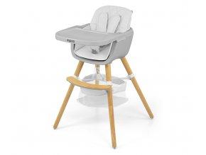 Jedálenská stolička Milly Mally 2v1 Espoo biela