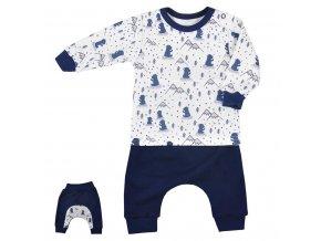 Tepláčky a tričko Koala Tajga modré