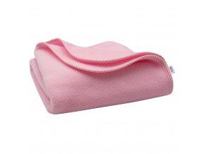 Detská fleecová deka New Baby 100x75 ružová prúžky