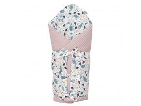 Klasická šnurovacia zavinovačka New Baby Vafle fialová králičky