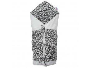 Klasická šnurovacia zavinovačka New Baby Vafle sivá leopard