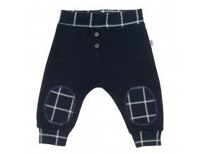 Dojčenské bavlnené tepláčky New Baby Cool tmavo modré