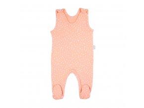 Dojčenské bavlnené dupačky Nicol Rainbow ružové