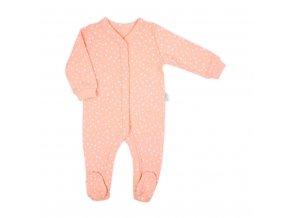 Dojčenský bavlnený overal Nicol Rainbow ružový