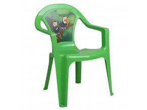 Detský záhradný nábytok - Plastová stolička zelená