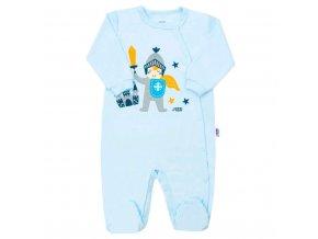 Dojčenský bavlnený overal s bočným zapínaním New Baby Knight