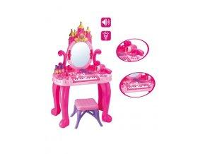 Detský toaletný stolík s pianom a stoličkou Bayo + příslušenství 13 ks