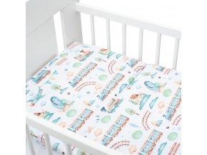 3-dielné posteľné obliečky New Baby 100/135 cm vláčik