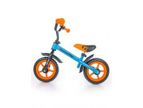 Detské odrážadlo kolo Milly Mally Dragon orange-blue