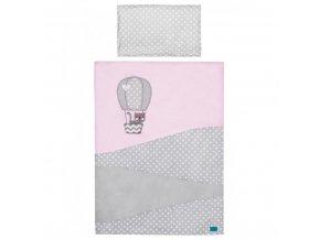 2-dielne posteľné obliečky Belisima Balón 90/120 ružové