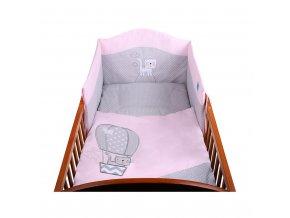 2-dielne posteľné obliečky Belisima Balón 100x135 ružové