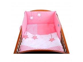 2-dielne posteľné obliečky Belisima Hviezdička 90/120 ružové