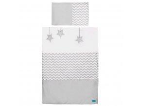 3-dielne posteľné obliečky Belisima Hviezdička 90/120 šedé