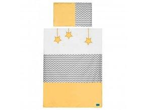 2-dielne posteľné obliečky Belisima Hviezdička 100x135 žlté