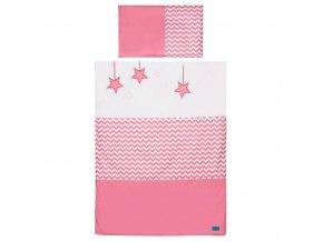 3-dielne posteľné obliečky Belisima Hviezdička 100x135 ružové