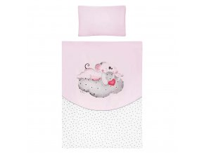 5-dielne posteľné obliečky Belisima LOVE 90/120 ružové
