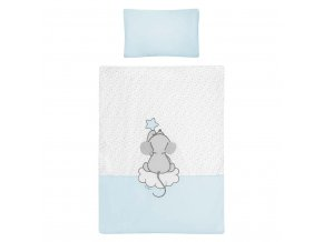 2-dielne posteľné obliečky Belisima Cute Mouse 90/120 tyrkysové